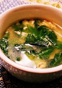 ☆5分で完成☆レタスと卵の簡単中華スープ