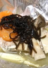 鮭と塩こんぶのホイル焼き