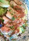厚切り豚テキ肉の✨竜田焼き