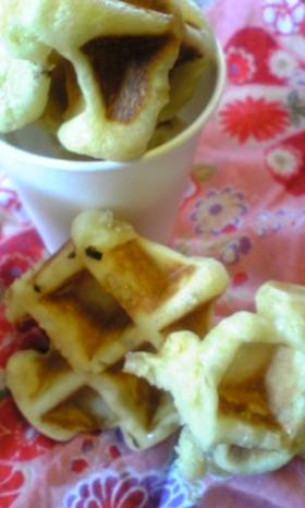 贅沢な日の朝食♪ベルギーワッフル。・*