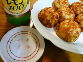 たこ焼きのシンプルな食べ方☆塩とレモンで