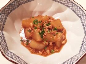 大根と鷄ひき肉の甘辛中華煮