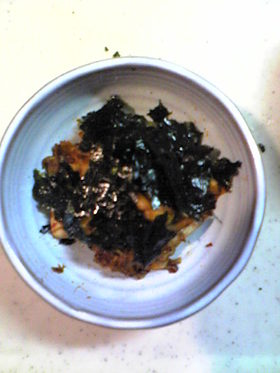 イカとキムチの炒め物