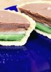 抹茶ムースともちもちお餅のチョコタルト