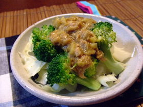 茹で野菜に☆ツナのジンジャーソース