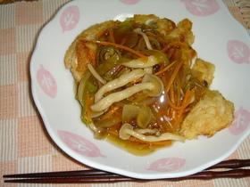 カリカリ鶏胸肉の野菜甘酢あんかけ