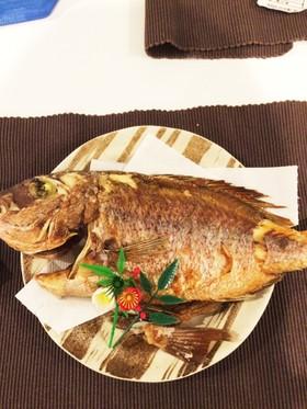 お正月やお食い初めに✨鯛の塩焼き