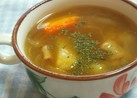 ジャガイモ・ベーコンのコンソメスープ