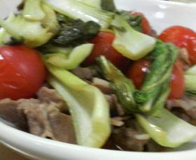 ■豚肉と青梗菜の蒸し煮■
