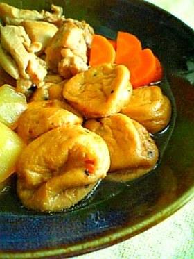 がんもと鶏もも肉の煮物