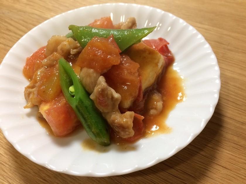 焼き豆腐のフレッシュトマト煮