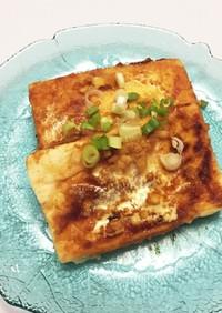 バター醤油の豆腐ステーキ