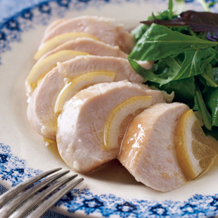 鶏むねのレモンオイルマリネ