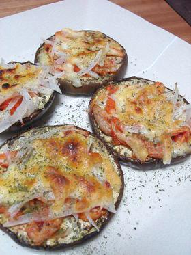 加茂茄子のキムチピザ