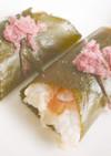 海老の押し寿司 桜巻き