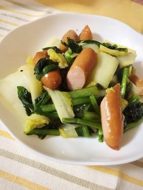 白菜とウィンナーのコンソメ炒めあんかけ☆