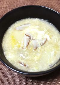 椎茸と白菜のかきたま汁