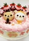 意外と簡単!ひな祭りキャラクターケーキ