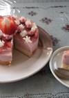 フルーチェでいちごのムースケーキ