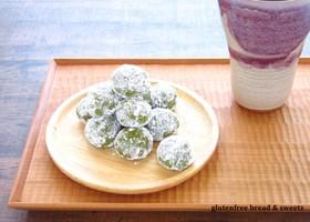 サクほろり♡抹茶の米粉スノーボール