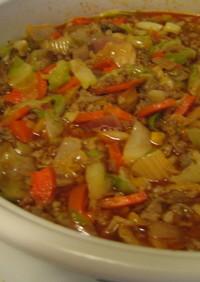 キムチと豚肉のスープ ~朝鮮人参入り~