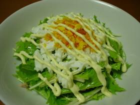 ☆ツナ入り♪水菜のミモザサラダ