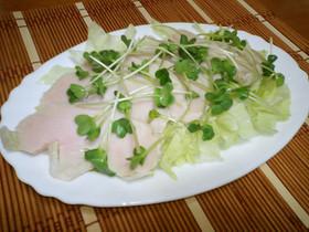 手軽で美味しい鶏ハム☆彡.。.:*・