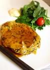 簡単★ひじきと葱の鶏挽肉照焼つくねバーグ
