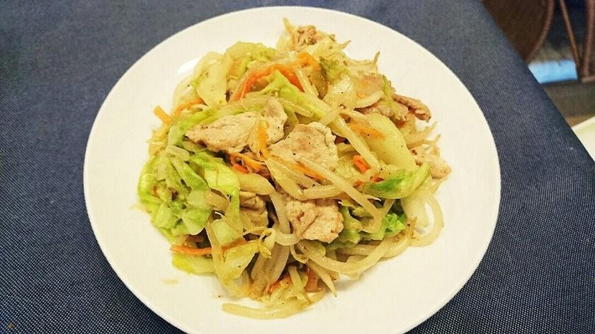 豚こまのマヨマキシマム野菜炒め