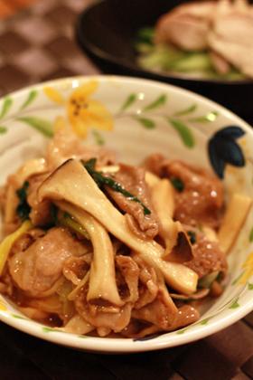 簡単☆超早☆エリンギと豚肉のピリ辛炒め☆