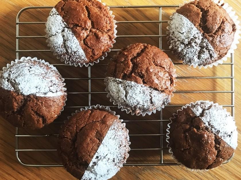 米粉のココアカップケーキ