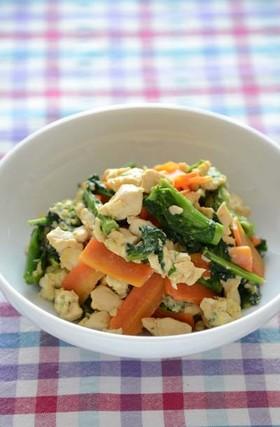 菜の花入りいり豆腐