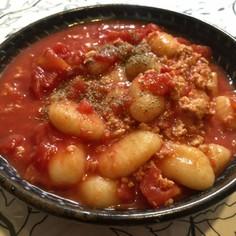 超基本♪鶏挽肉とトマトソースのニョッキ