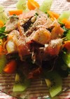 キウイとルッコラの簡単おもてなしサラダ