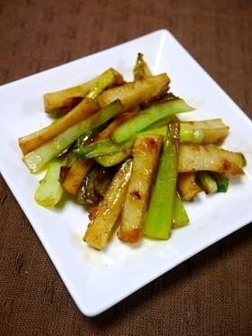 簡単副菜!小松菜と焼き竹輪のピリ辛和え