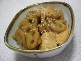 バターが香る☆蓮根&鶏肉のきんぴら風♪