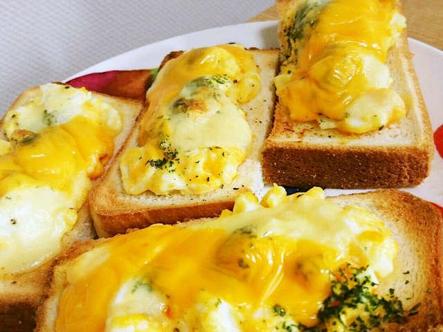 トースト マヨネーズ 卵 チーズ