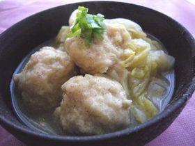 鶏団子と白菜のホッと煮