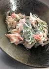 調味料2つ!細切り昆布のカニカマサラダ