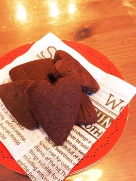 HMで簡単型抜きクッキー♡濃ココア味♡