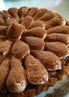 ブラウニーと生チョコの3層タルト