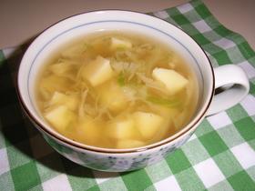 卵豆腐とキャベツの簡単スープ☆