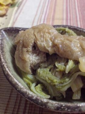 白菜と油揚げの生姜煮