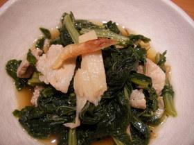 栄養満点!!豚バラと小松菜の煮物