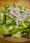 レタスのしらすぽん酢サラダ