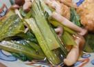小松菜としめじと油揚げの煮浸し