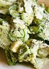 アボカドときゅうりとレタスの黒ごまサラダ