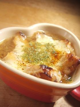 3分で☆超簡単オニオングラタンスープ