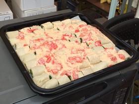 そばクレープの豆乳トマトグラタン