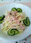 超簡単!コールラビのハムマヨサラダ